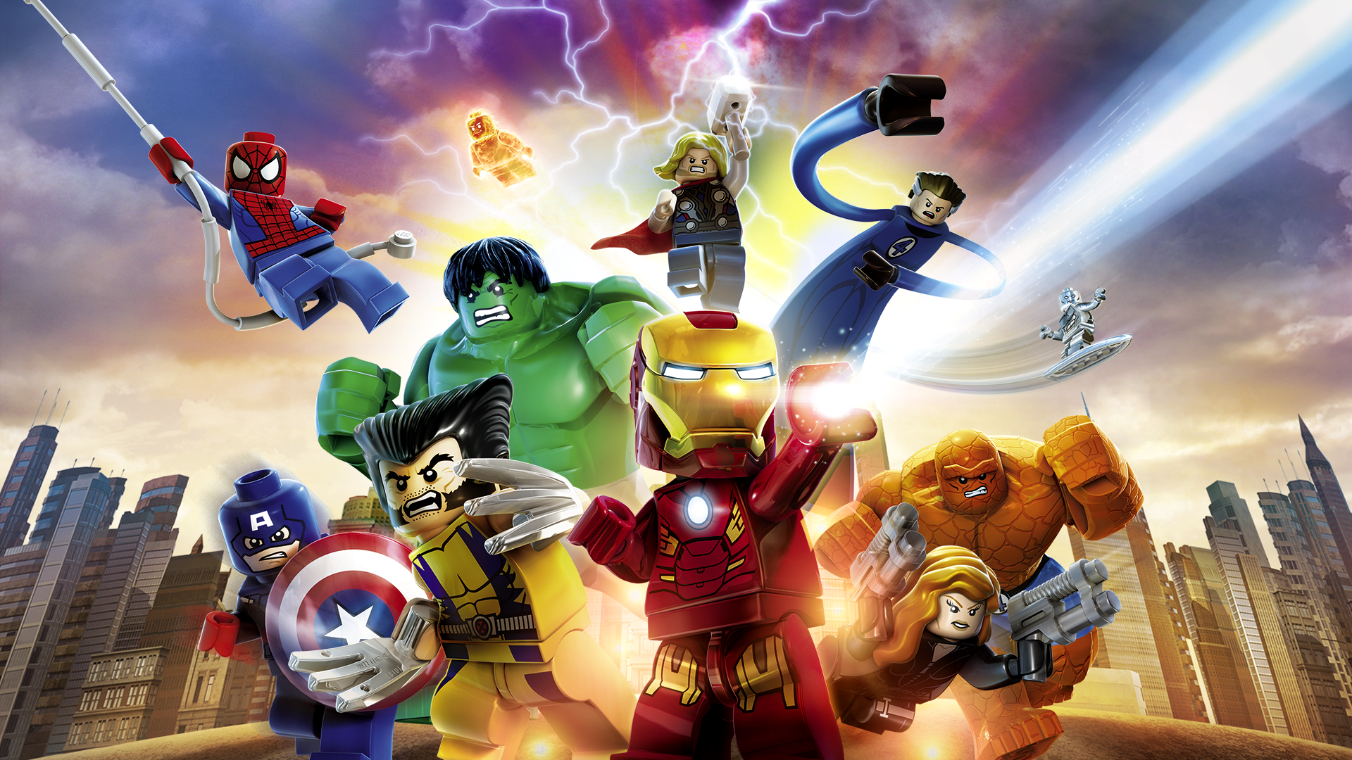 Ausmalbilder Lego Marvel Super Heroes: Game: Lego Marvel Super Heroes