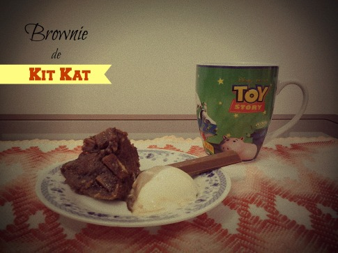 Receita - Brownie de Kit Kat